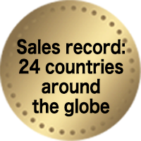 Sales record: 24 countries around the globe